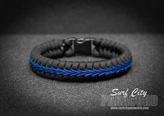 Surf City Paracord is a proud supporter of the brave men and women in blue who keep us safe.  The Thin Blue Line is a universal Law Enforcement symbol, know acr