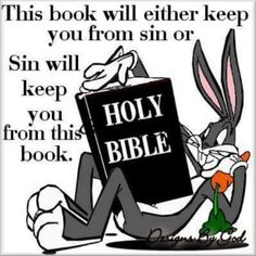 Either the HOLY BIBLE will keep you from sin. or SIN will keep you from this book. Bible Quotes, Bible Verses, Motivational Quotes, Inspirational Quotes, Bible Humor, Biblical Verses, Godly Quotes, Scripture Cards, Prayer Quotes