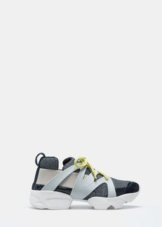 Contrast materials sneakers - Shoes for Women | MANGO