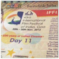 IFFI, Intian kansainvälinen elokuvafestivaali Goassa sekä satavuotias intialainen elokuva
