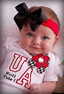 Baby Alabama Fan - Roll Tide? This is what our little girl is going to be wearing one day. :)