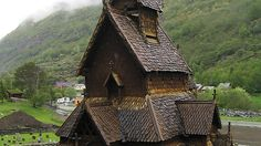 The Borgund Stave Church, Norway. Built sometime between 1180 and 1250 CE.