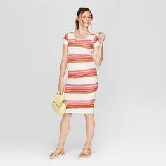 648f58adffc Maternity Striped Short Sleeve Shirred T-Shirt Dress - Isabel Maternity by  Ingrid Striped Shorts