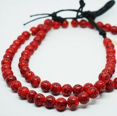 Fairtrade Seed Bead Necklace Round Red