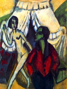 The Tent  Ernst Ludwig Kirchner - 1914