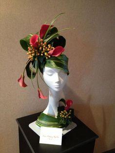 Arte Floral, Deco Floral, Ikebana, Fleur Design, Modern Flower Arrangements, Floral Headpiece, Flower Hats, Flower Show, Fall Flowers