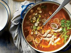 Learn how to make Green Chile-Turkey Soup with Hominy . MyRecipes has tested recipes and videos to help you be a better cook Hominy Recipes, Fall Soup Recipes, Turkey Recipes, Turkey Soup, Turkey Chili, Turkey Frame Soup Recipe, Turkey Leftovers, Thanksgiving Leftovers, Leftover Turkey