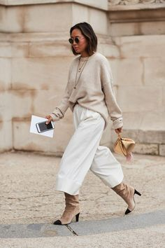 See all the most covetable street style looks from Paris Fashion Week | Timeless Style | Classy Look | Neutrals