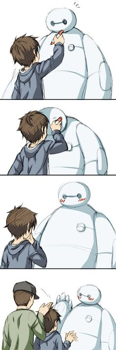 40 Ideas For Drawing Disney Baymax Big Hero 6 Baymax, Hiro Big Hero 6, The Big Hero, Disney Dream, Disney Love, Disney Magic, Humor Disney, Disney Cartoons, Funny Disney