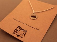 Mama Bear: Mama Bear Wish Necklace Charm by CraftsbyBrittany