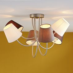 Sewal - Suspensions, Lustres-Luminaires Lustre 6 lumières ACIER/CHROME