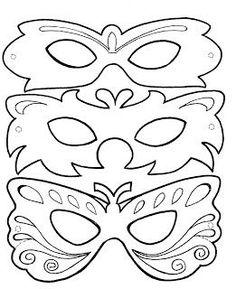 Modelo e molde de máscara de carnaval ~ Arte De Fazer   Decoração e Artesanato