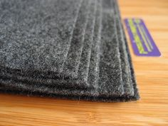 Felt - Charcoal Grey Gray - Kunin Eco Rainbow Classic Felt Made from Recycled Plastic Bottles Eco-Fi Eco Friendly Recycled Polyester by LoveEllieBagMaking Find it now at http://ift.tt/2ixq0AR!