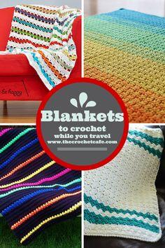 Great travel crochet project ideas - blanket crochet patterns