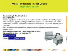Meat Tenderizers   Meat Cubers