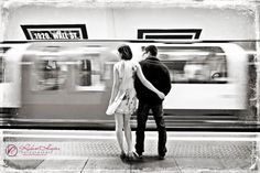 Pre wedding photos in London tube station 0911-DC-0073