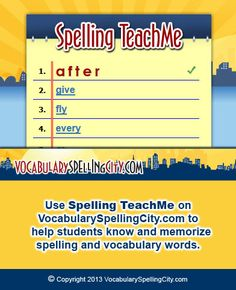 Spelling TeachMe Game Screenshot