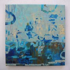 "Work in Progress  12"" X 12""   Acrylic on Canvas  Artist: Dana Marie"