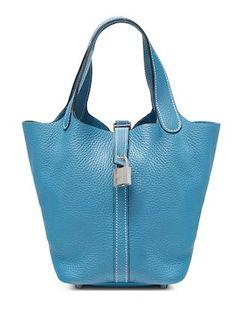 Gris Tourterelle Clemence Picotin Lock Bag PM by Hermès at Gilt
