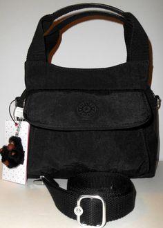 KIPLING Felix S Small Satchel Crossbody Bag Black HB 6605 Monkey 9x8 NEW NWT  #Kipling #CrossBodySatchelShoulder