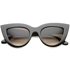 fae3e68c101 Womens Mod Fashion Bold Rimmed 70s Style Cat Eye Sunglasses 48mm