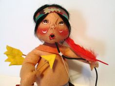 Vintage Native American Indian Annalee Doll by BusyGirlVintage, $29.95