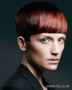 Red crop    Hairstyle by: Emiliano Vitale  Hairstyle picture by: Paul Scala  Salon: E Salon  Location: Australia