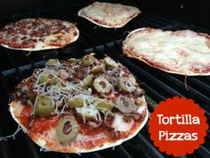 Grilled Tortilla Pizzas