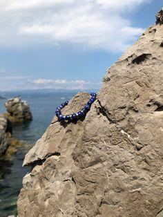 Poseidon – Lapis lazuli karkötő Lapis Lazuli, Sapphire, Engagement Rings, Jewelry, Fashion, Enagement Rings, Moda, Wedding Rings, Jewlery