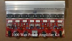 Power amplifier has up to 1000 Watt power, this circuit made one channel only so if you want to create a stereo in it must be made one again, actually this is more suitable power amplifier in use for Sound System or outdoor, so if only in use for the house I think is less suitable. Car Audio Amplifier, Class D Amplifier, Stereo Amplifier, Speakers, Diy Electronics, Electronics Projects, Home Theater Amplifier, Electronic Schematics, Electronic Circuit