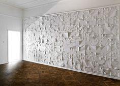 Paper Wall Art  A stunning and impressive wall piece created out of papers only.