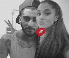 Imagem de hot couple, ariana grande, and zayn malik