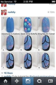Butterfly nails tutorial