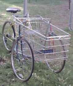 How to Build a Cartbike - this definitely has potential when the gas runs out and you are relying on your own power to get around.....: