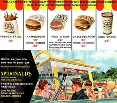 McDonald's ad-60 years and a cheeseburger has only gone up 80 cents
