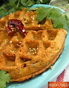 Most loved Maharashtrian savory snack, now non-fried, but equally yummy! Do try this scrumptious gluten free and vegan waffle, that is crispy on the outside and fluffy inside. Whats more? My versio...