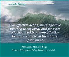 Blissful Life in Freedom, Fullness & Enlightenment Maharishi Mahesh Yogi, World Peace, Art Of Living, Good Advice, Affirmations, Spirituality, Mindfulness, Success, Wisdom