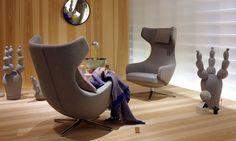 Milan furniture fair 2012.  Grand Repos lounge chair