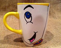 Disney Chip Potts From Beauty and the Beast  Coffee Mug Tea Cup // Chip hand painted design