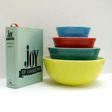 Our favorite mixing bowls and cook book