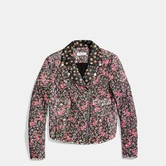 The Best Leather Jackets To Scoop Up Now #refinery29  http://www.refinery29.com/leather-jackets-for-women#slide-13  With due deference to Miranda Priestly's sarcasm, when florals are printed all over a moto jacket, they kind of are groundbreaking.Coach Chiffon Floral Biker Jacket, $796, available at Coach....