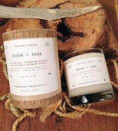 Cedar & Sage Man Candle //pfft, man candle. cedar candles are always welcome in my home, man or no man //