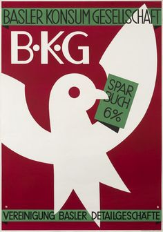 Basler Konsum Gesellschaft, B.K.G. by Stoecklin, Niklaus | Shop original vintage #posters online: www.internationalposter.com