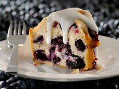 Amazingly Moist Blueberry Cake Recipe from The Food Channel. A deliciously moist cake that takes full advantage of blueberry season. And so easy to make!