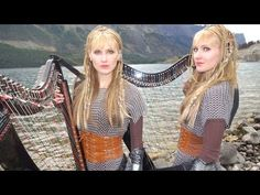 VIKINGS Theme (If I Had A Heart) Harp Twins - Camille and Kennerly - YouTube