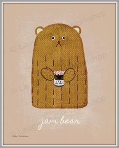 Spread me some JAM! #jam #bears #bear #jelly #foodies #foodie #babies #newbaby #parents #babybump #babybelly #preggo #food #nursery #nurserydecor #homedecor #baby #babyshower #momlife #toddlers #children #kids #decorating #kitchens #PBJ #cute #teddybears Childrens Room Decor, Woodland Nursery Decor, Playroom Decor, Boy Girl Room, Boy Or Girl, Baby Nursery Art, Bear Nursery, Royal Baby Boys, Funny Bears