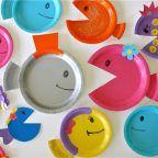 manualidades infantiles con platos desechables