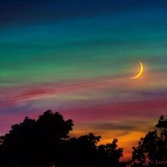Rainbow Moonrise