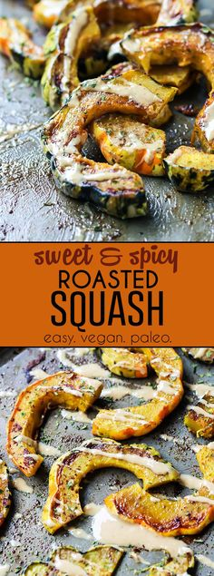 This Sweet & Spicy Roasted Squash is the perfect side dish to your favorite easy meal. Just a few simple ingredients, ready in about 40 minutes. LOVE squash.