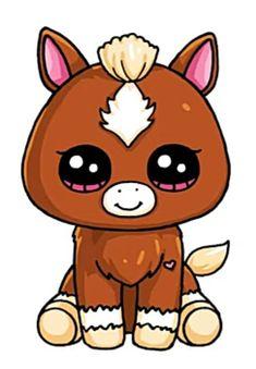 Easy Animal Drawings, Cute Easy Drawings, Cute Little Drawings, Cute Girl Drawing, Cute Kawaii Girl, Cute Kawaii Animals, Kawaii Art, Draw So Cute Animals, Kawaii Girl Drawings